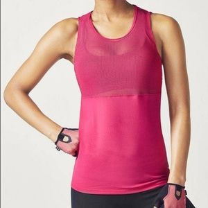 NEW Fabletics Sandy 2-in-1 Tank Geranium Pink XL